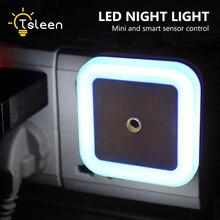 Светодиодный Светильник-ночник с датчиком люкс, автоматический светильник для детской комнаты, спальни, автоматический настенный прикроватный светильник, 4 цвета, настенный светильник с вилкой европейского и американского стандарта