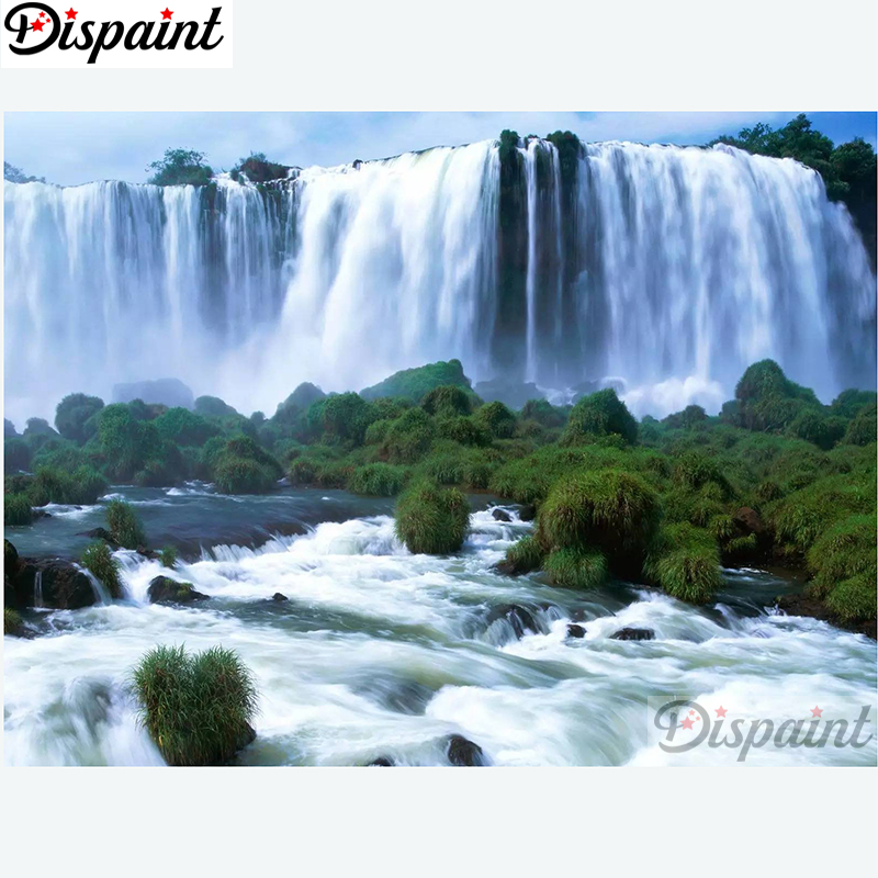 Arts,crafts & Sewing Needle Arts & Crafts Bright Dispaint Full Square/round Drill 5d Diy Diamond Painting tree Waterfall Embroidery Cross Stitch 3d Home Decor A11144