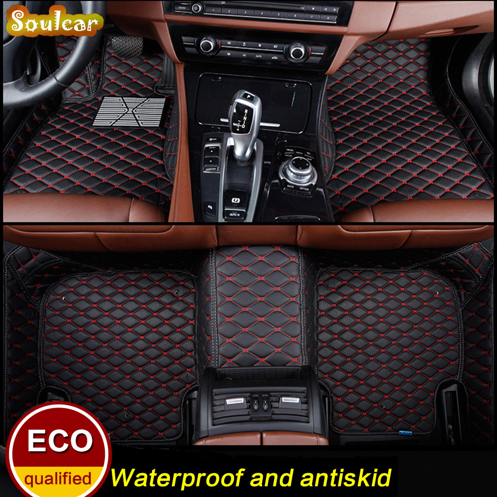Custom fit Car floor mats for KIA SOUL Opirus SHUMA cerato Sorento Sportage R 2008-2017 car cover floor trunk carpet liners mats interior black rear trunk cargo cover shield 1 pcs for kia sportage 2016 2017
