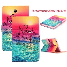 Magnetic Cover For Samsung Galaxy Tab 4 7.0 Case T230 T231 T235 Tablet Folio Stand PU Leather Case For Samsung Galaxy Tab 4 7.0