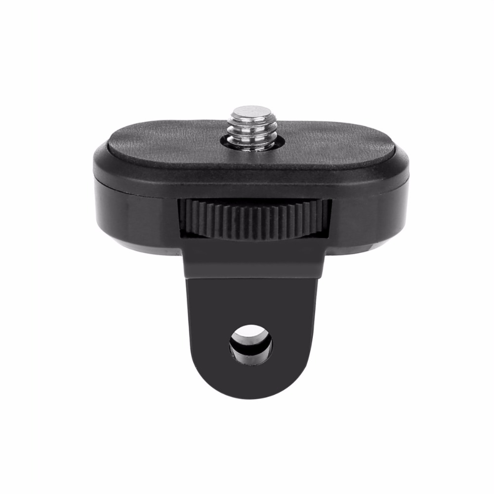 DZ-GS1 Mount to 1/4 Tripod Thread Adapter for GoPro camera with a tripod interface to GoPro mounts fatcat a cg universal 1 4 camera to gopro mount adapter black