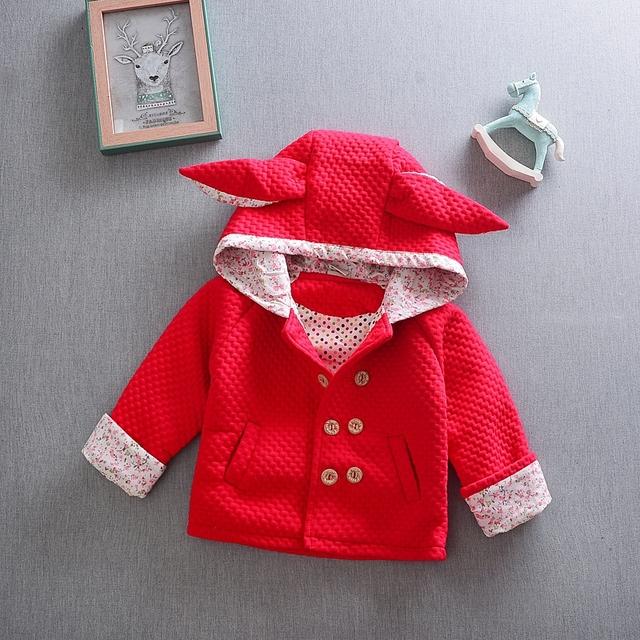 2017 muchachas del otoño del resorte ropa de bebé deportes al aire libre de la chaqueta con capucha ropa de abrigo para bebés infantiles clothing lindo chaquetas abrigos