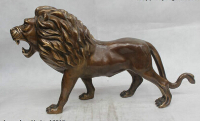 Copper Brass CHINESE crafts Asian 10Chinese Folk Pure Bronze excellent Lucky Lifelike grand Lion StatueCopper Brass CHINESE crafts Asian 10Chinese Folk Pure Bronze excellent Lucky Lifelike grand Lion Statue