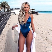 цены Phaixoneible One Piece Swimsuit Sexy Swimwear Women Monokini Push Up Bathing Suit Solid Beachwear Padded Trikini