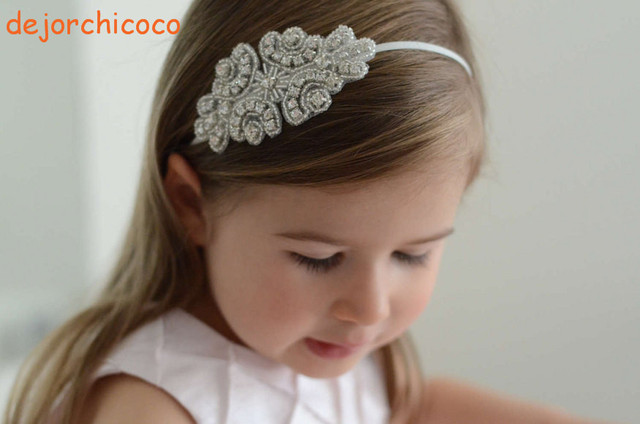Crystal toddler Children s bling headbands hairbands Wedding girls baby  crystal headbands Hairbands hair accessory dejorchicoco  528d9c3e9be