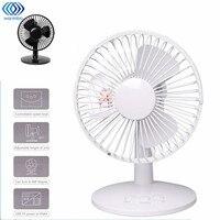 Black White 4W USB Shaking Head Rotation Cooling Fan Ultra Quiet Household Appliances Office Desktop Fan