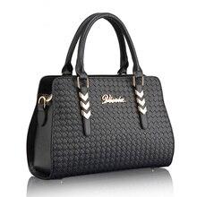 Trendy Luxury Crocodile Knitting PU Leather font b Handbag b font Imported PU Women Designer Shoulder