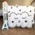 Manta de Bebé recién nacido 100% Algodón ropa de Cama Blanca Cartoon Kids Summer edredón Sofá Suelo Jugando Esteras de la Alfombra 130X90 cm 0-5 años 550g