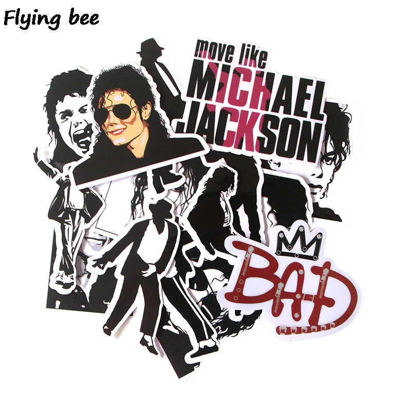 20 Sätze/los (16 Teile/satz) Rock König Michael Jackson Punky Aufkleber Graffiti Wasserdicht Skateboard Koffer Laptop Aufkleber X0279