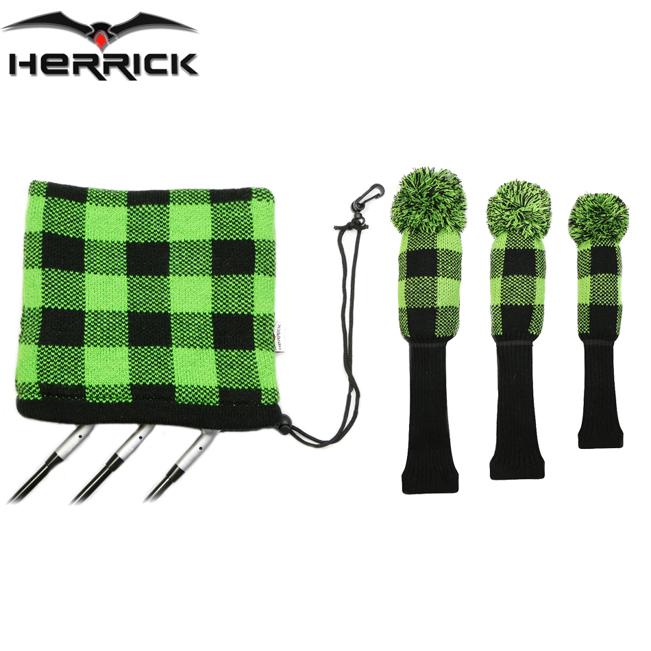 Golf Club head covers Fairway Wood head covers knitting wool covers irons headcover Golf Accessories Free Shipping covers