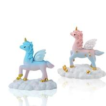 Unicorn party supplies wedding birthday cake decoration anniversaire home accessories unicorn topper babyshower