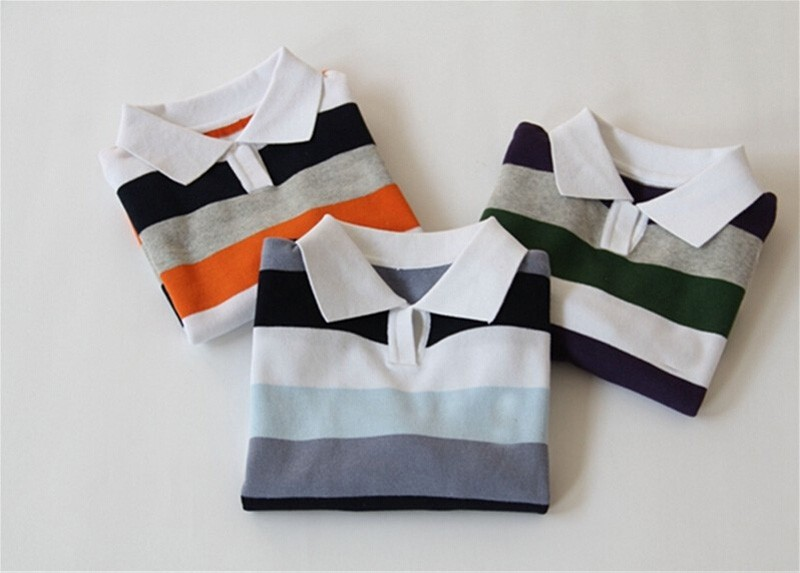 Baby boy sweater Stripe fashion brand Spring Autumn children clothes V-neck designer party kid Casual sweater camiseta infantil (2)