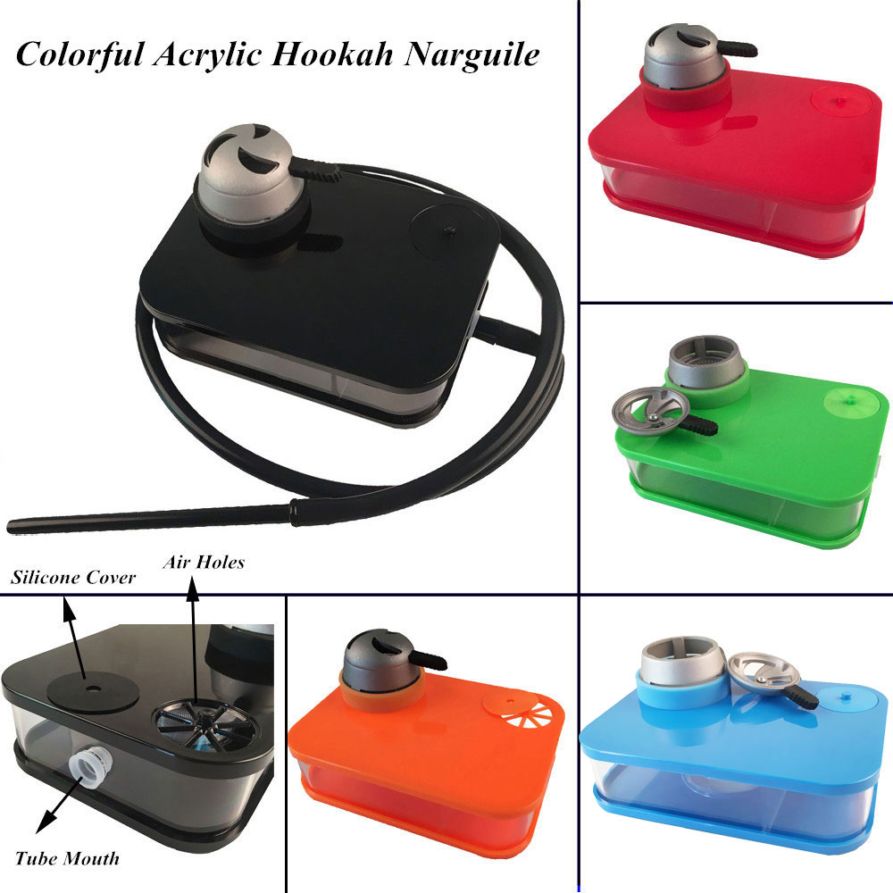 Top-Grade Acrylic Hookah Tobacco Smoking Set Hookah Shisha with Bowl Hose Charcoal Holder Sheecha/Chicha/Narguile Accessories