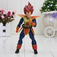15cm Dragon Ball Z S H Figuart orange Hair Scouter Vegeta SHF PVC Action Figure toy Dragon Ball Figure