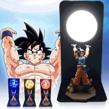 Actions Gambar Dragon Ball Room Dekorasi Light Son Goku Super Saiyan Angka Led Light Goku Gambar DBZ Led Bulb Table Light