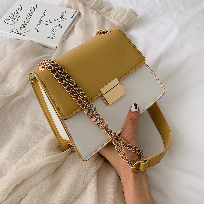 Female Crossbody Panelled Bag For Women 2019 Quality PU Leather Luxury Handbags Designer Sac Main Ladies Shoulder Messenger Bag in Shoulder Bags from Luggage Bags