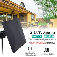 Satxtrem 318A Indoor/Outdoor TV Antenna 160 Miles HDTV Digital HDTV Cable For DVB T2 32.8ft Coax Amplifier Signal Booster