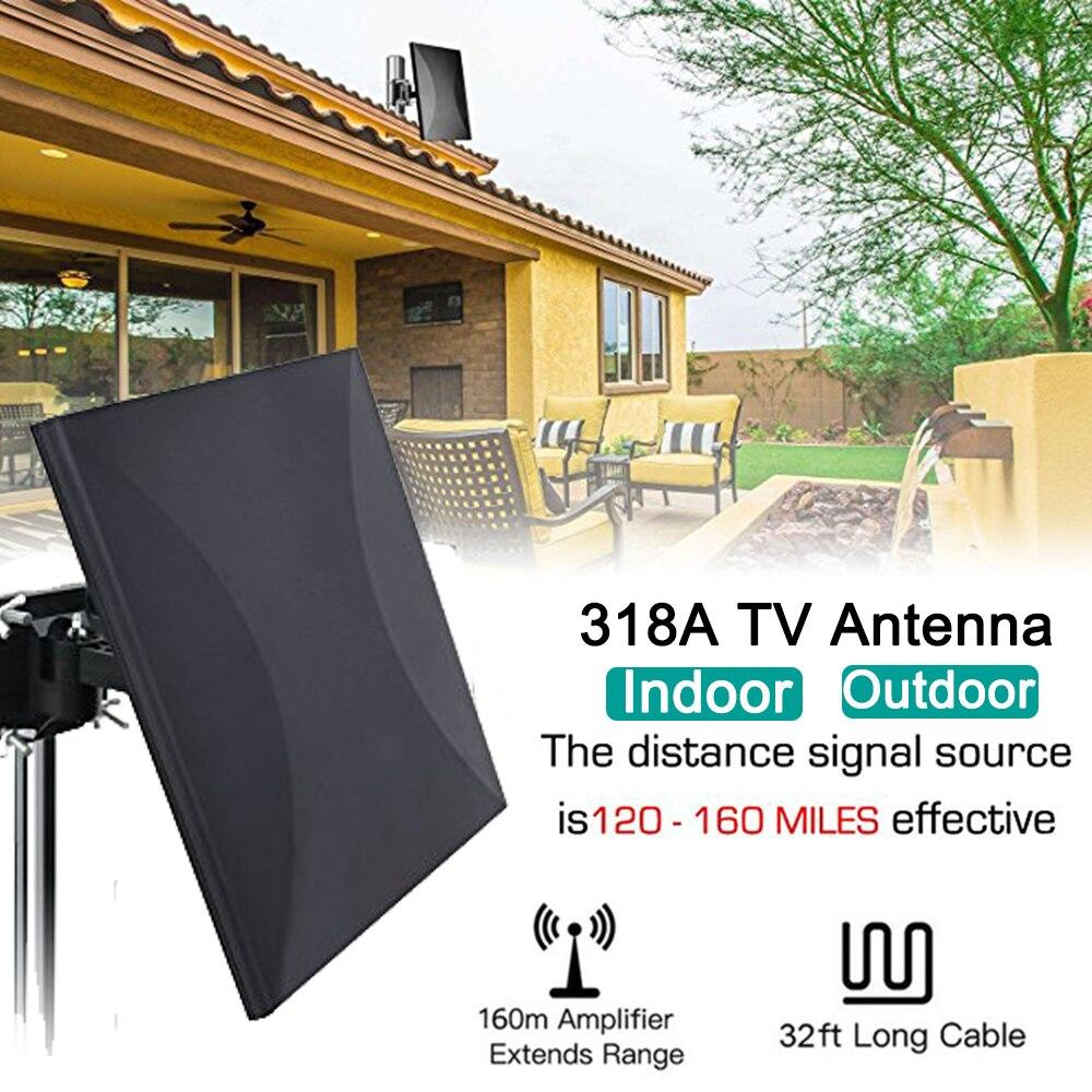 Satxtrem 318A intérieur/extérieur DVB-T2 antenne TV DVB-T 160 Miles HDTV câble HDTV numérique pour amplificateur coaxial 32.8ft Booster de Signal