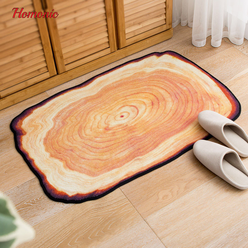 Antique Wood Tree Annual Ring 3D Carpet For Living Room Bedroom Area printed carpet floor mat Rugs Doormats modern hallway rugs