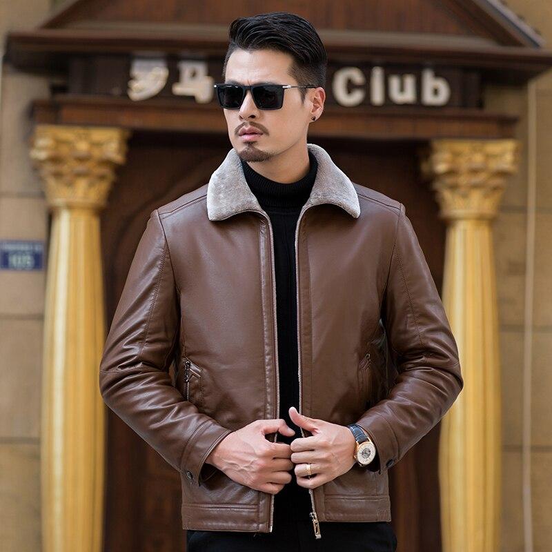 Haute qualité hommes veste en cuir 2019 nouveau solide col montant imperméable homme Faux cuir manteau jaqueta de couro masculina 9816 - 6