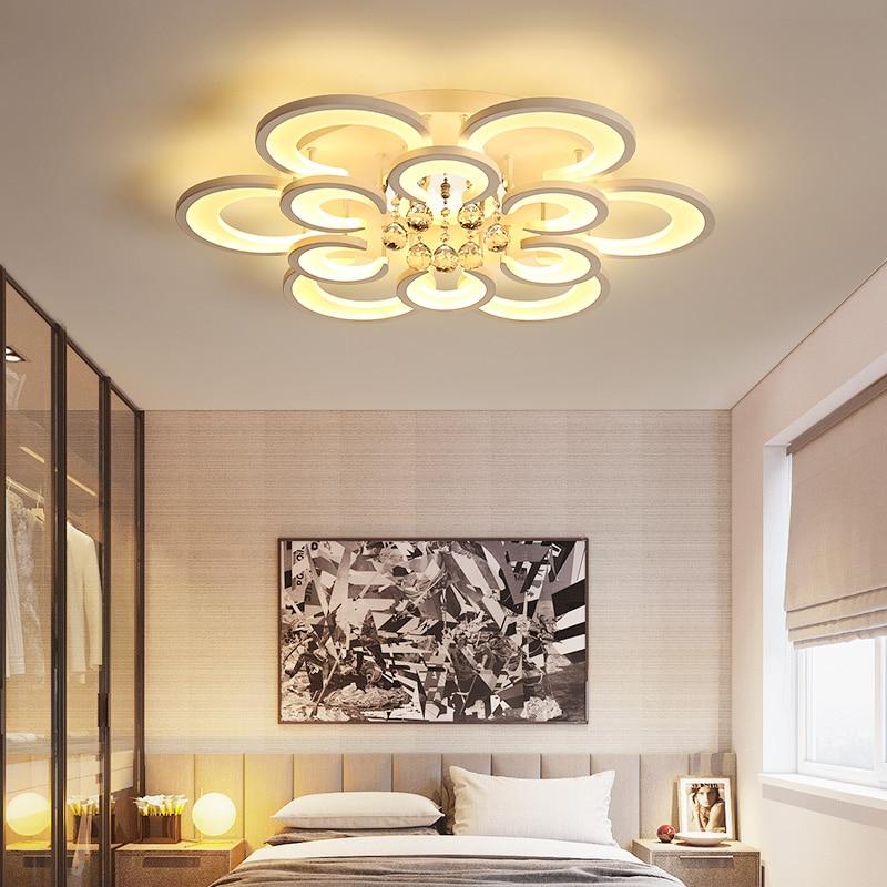 Modern Led Ceiling Chandelier For Living Room Bedroom AC 110-240V Crystal Pendant For Acrylic Chandelier Lighting цена