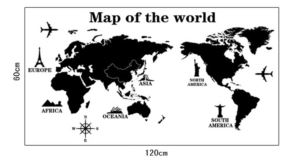 100 ideas world map black and white wallpaper on kevinoimbarwnload black and white wallpaper aliexpresscom buy modern creative world map wallpaper bedroom gumiabroncs Choice Image