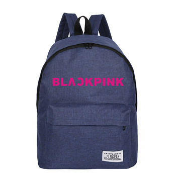 Blackpink Backpack Kpop Girl Style Canvas Hip Hop Stylish 2018 Summer Bag Man/Female Harajuku School Bag Funny Mochila