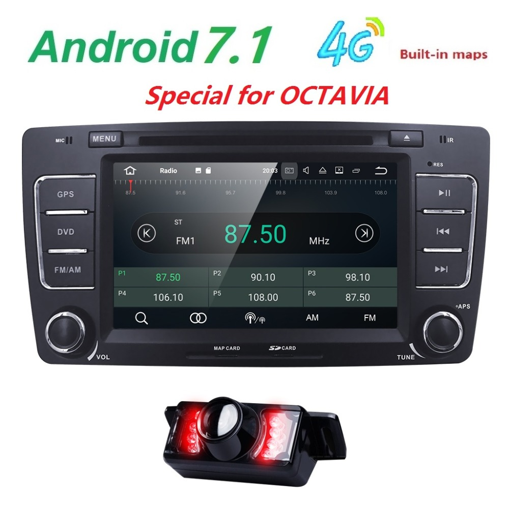 7 2 Din Android 7.1 GPS AutoRadio Car DVD Player for Skoda Octavia 2 3 yeti 2008 2009 2010 2011 2012 2013 2014 Audio Navi 4G BT isudar car multimedia player automotivo gps autoradio 2 din for skoda octavia fabia rapid yeti superb vw seat car dvd player