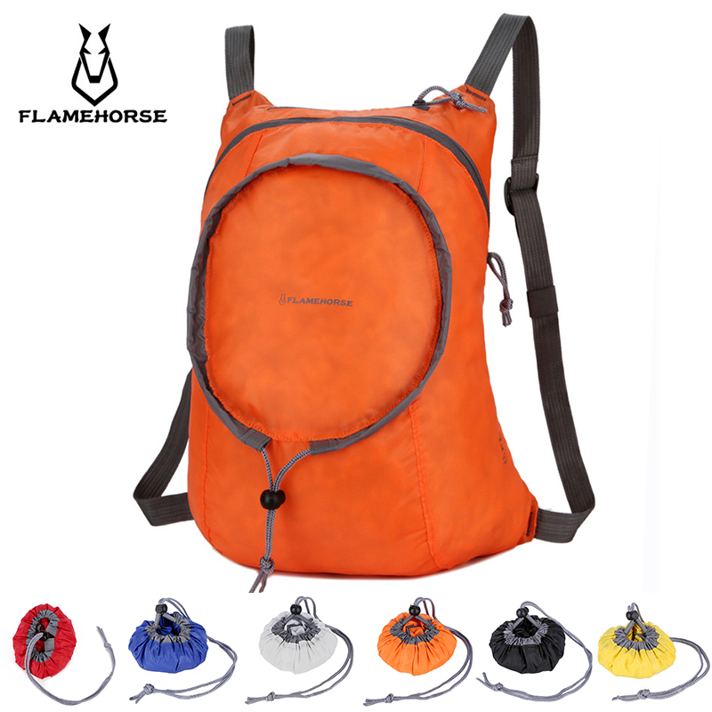 Nylon Waterproof Collapsible Backpack Women's Men's Daily Walking Travel Portable Comfort Lightweight Storage Folding Bag