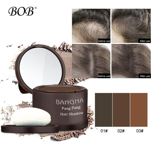 Juego de arrancador de fibras de construcción de pelo de marca BOB con Spray aplicador de sombra de cabello recortado en polvo corrector de cabello Fibe Natural