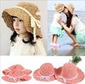 Fashion Women Wide Large Brim Floppy bohemia Japan's Beach folded adult and children Sun Straw Hat Cap Free Shipping