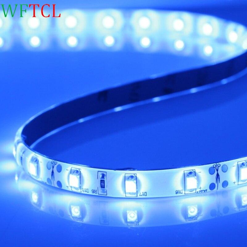 LED strip lights 3528 Blue wholesaler striscia led cheap price led lichtleiste 12V tira led waterproof led tape light for home