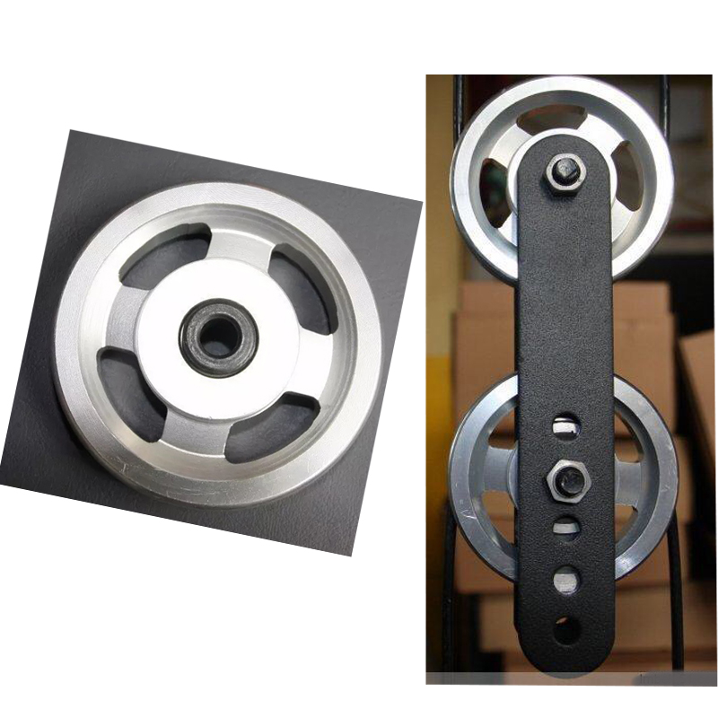 88mm Universal Aluminum Lift Heavy Load Bearing Pulley Wheel Cable Fitness Gym Equipment Climbing Camping Pulley Tools