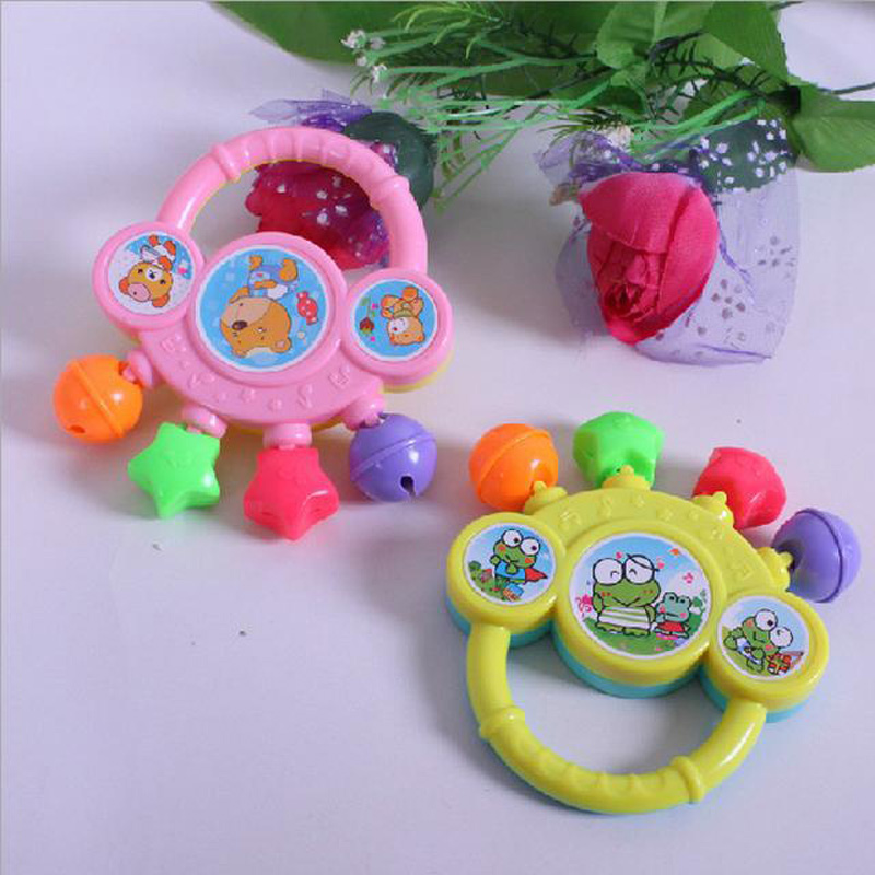 BalleenShiny Newborn Baby Infants Rattles Shake Hand Bells Early Education Funny Sound Toy Develop Kids Ring Plastic Rattles