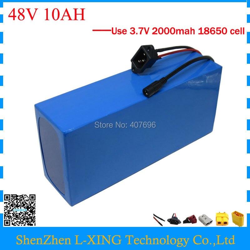 Batteria elettrica della bici 48 v 10AH 500 w 700 w 48 v ebike e motorino batteria agli ioni di Litio 10AH con 15A BMS 2A dazio doganale del Caricatore di Trasporto