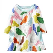 Bear Leader Girls Dress 2018 New Spring Girls Dresses European and American Style Blue broken Flower Brand Baby Kids Dresses(China)