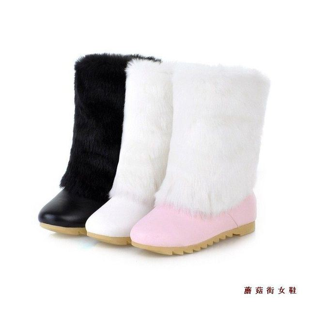 Aliexpress.com : Buy Fashion winter snow boots white pink black ...