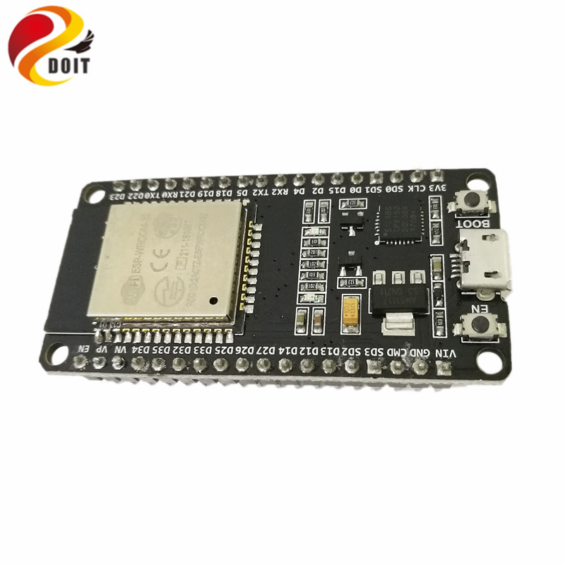 DOIT ESP32 Development Board WiFi+Bluetooth UltraLow Power Consumption Dual Cores ESP-32 ESP-32S ESP 32 Similar ESP8266 1pcs oficial doit esp wroom 32 esp32 esp 32s bluetooth e wi fi dual core cpu com baixo consumo de energia mcu esp