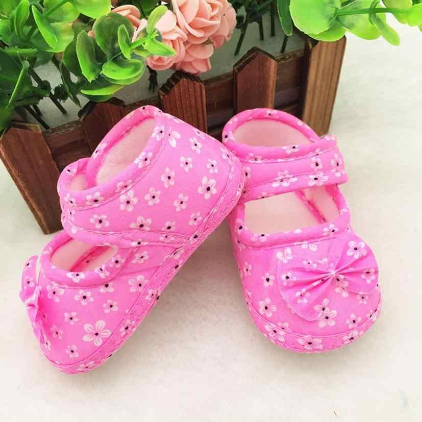 ARLONEET zapatos de bebé lona niño suave zapatillas niños flores impresos zapatos de tela recién nacido coloridos cómodos zapatos de bebé