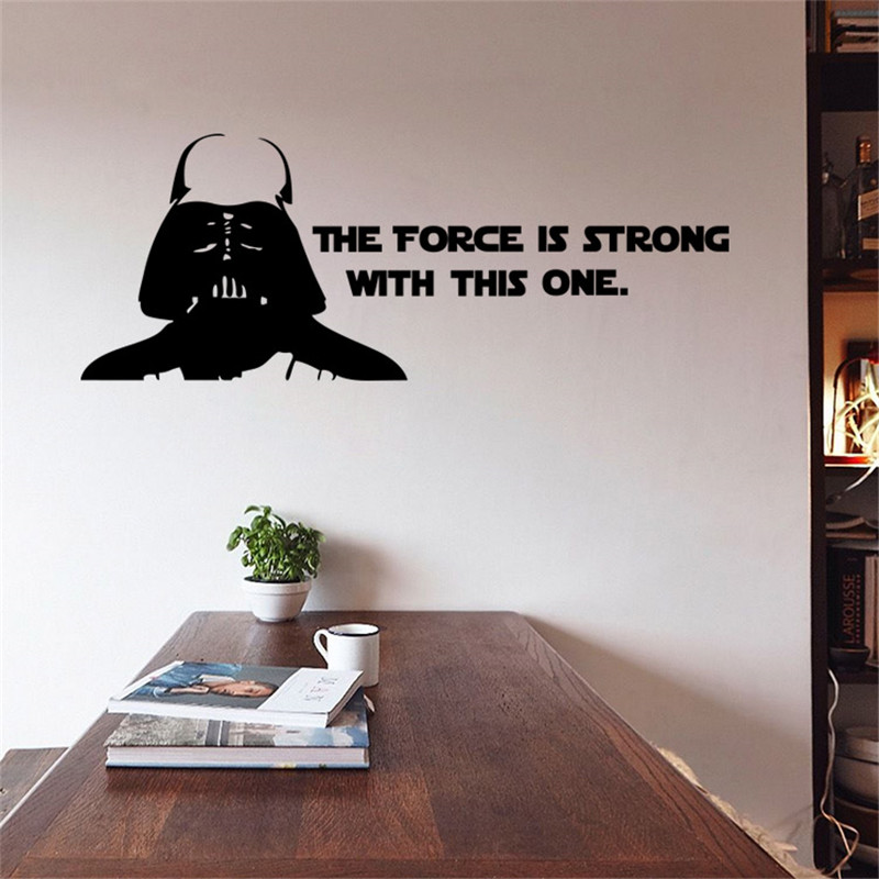 aliexpress : buy star wars wall stickers poster the force is