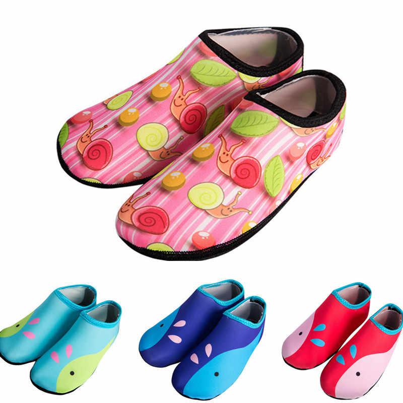 b868acb60 Niño niños nadar agua natación antideslizante calzado descalzo ligero Aqua  calcetines para la piscina de la