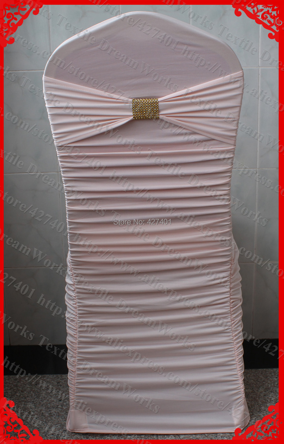 Marvelous Us 608 0 No 24 Peach Pink Ruffled Lycra Chair Covers With Lycra Band And Gold Diamond Mesh Buckle For Wedding Decoration Party In Chair Cover From Bralicious Painted Fabric Chair Ideas Braliciousco