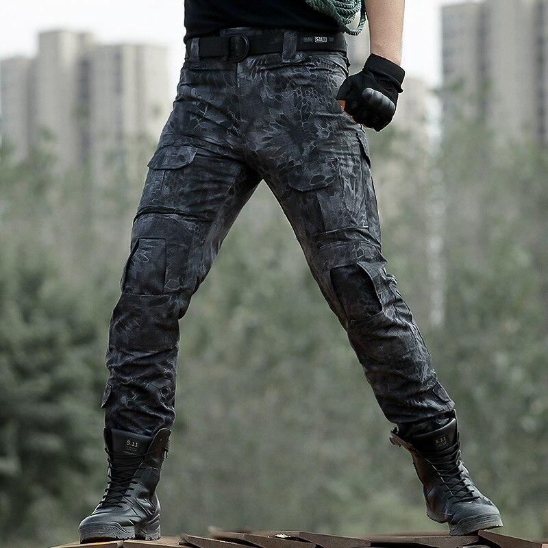 Военно-тактические брюки Для мужчин АРМИЯ SWAT Пейнтбол Камуфляж Форма Брюки Camo Повседневное Airsoft Combat Multi карман рабочие брюки