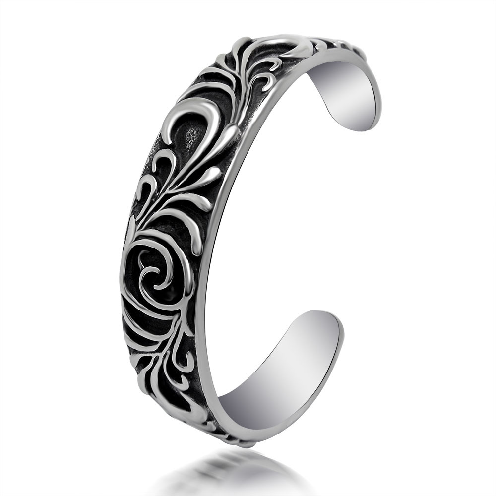 font b Fashion b font font b jewelry b font titanium steel bracelet Stylish retro