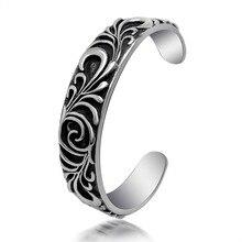 Fashion jewelry titanium steel bracelet Stylish retro punk titanium steel bracelet Titanium steel jewelry bangles