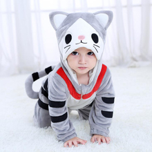 Baby Kaas Kat Animal Kigurumi Pyjama Kleding Pasgeboren Anime Baby Romper Chi Onesie Cosplay Kostuum Outfit Hooded Jumpsuit