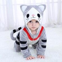 Bambino Formaggio Gatto Animale Kigurumi Pigiama Abbigliamento Neonato Anime Infantile Del Pagliaccetto di Chi Tutina Cosplay Costume Outfit Con Cappuccio Della Tuta