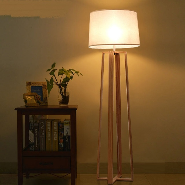 Aliexpress Buy Nordic Solid Wooden Floor Lights Minimalist