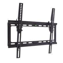 ТВ Кронштейн Kromax IDEAL-4 new black (Настенный, наклонный, сталь, диагональ экрана 22-65 дюймов, расстояние от стены 2.3 см, угол наклона 0-10°, макс.нагрузка 50 кг)
