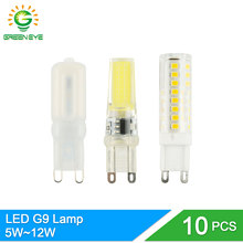 GreenEye 10Pcs Dimmable COB 220V LED G9 Bulb 5W 7W 9W 10W 12W LED Lamp G9 Replace Halogen SMD 2835 3014 Ampoule Lampara Lampada
